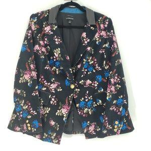 Lane Bryant   Velvet Floral Blazer Jacket Size 14